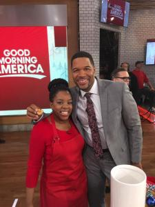 Michael Strahan loved the Banana Pudding Cookies!